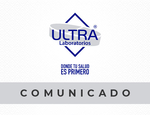 Ultra Laboratorios Comunicado